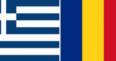 greek romania flags