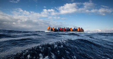 "A Medecins Sans Frontiers (MSF) and Greenpeace rescue team responded to a sinking rigid inflatable boat (rhib) carrying 45 Afghan refugees crossing from Turkey to the north shore of Lesvos, Greece. On arrival to the scene the poor quality inflatable was taking on water. The people on board were having problems with the outboard motor as it was poorly fitted and could not be restarted. It was soon obvious to the Greenpeace/MSF crew that the sponsons were rapidly losing air and the lives of the people were in immediate danger.  The Afghans in the vessel started screaming, ""please help us, we're sinking! We don't want to die!"" The rescue boats responded quickly and effectively to the situation as people started to panic and tried to jump from the boat. Babies and children were held in the air to alert the crew while parents cried out, ""take the children, we have children on board!"" The women and children were grabbed first and transferred into two Greenpeace/MSF boats that were flanking both sides of the sinking boat. All people were successfully rescued and transferred to Molyvos harbour where response teams were on standby."
