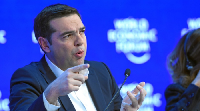 DAVOS/SWITZERLAND, 21JAN16 - Alexis Tsipras, Prime Minister of Greece points during the session 'The Future of Europe' at the Annual Meeting 2016 of the World Economic Forum in Davos, Switzerland, January 21, 2016.    WORLD ECONOMIC FORUM/swiss-image.ch/Photo Valeriano Di Domenico