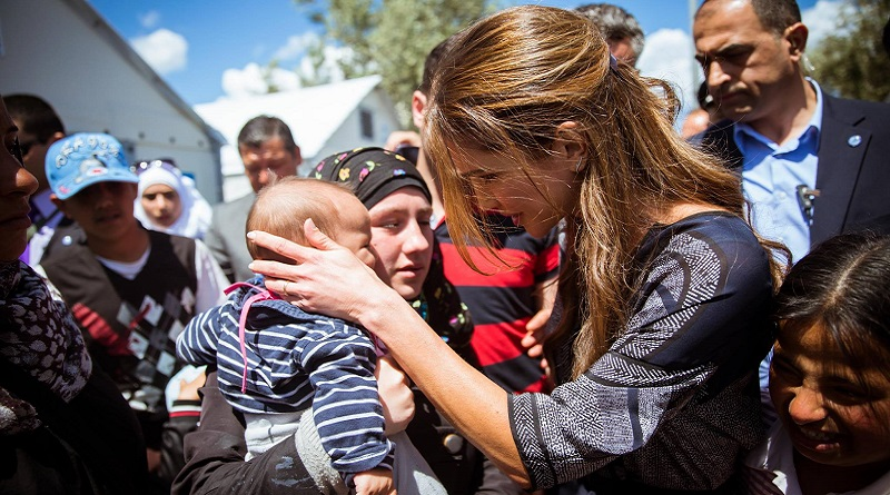 Queen Rania on Lesvos