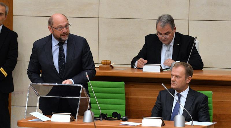 Schulz and Tusk_EU Parliament_embassynews