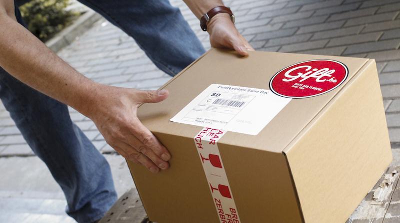 Man preparing order to be delivered