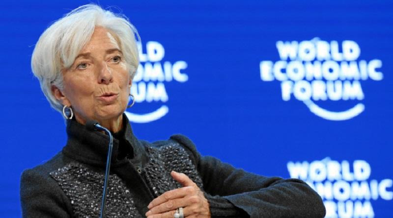 DAVOS/SWITZERLAND, 23JAN16 - Christine Lagarde, Managing Director, International Monetary Fund (IMF), Washington DC speaks during the Annual Meeting 2016 of the World Economic Forum in Davos, Switzerland, January 23, 2016.    WORLD ECONOMIC FORUM/swiss-image.ch/Photo Moritz Hager