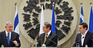 PM Netanyahu in Nicosia with Cyprus President Anastasiades and Greek PM Tsipras