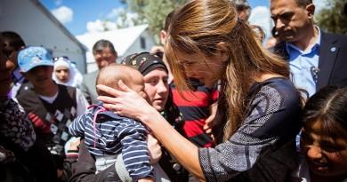 Queen Rania on Lesvos