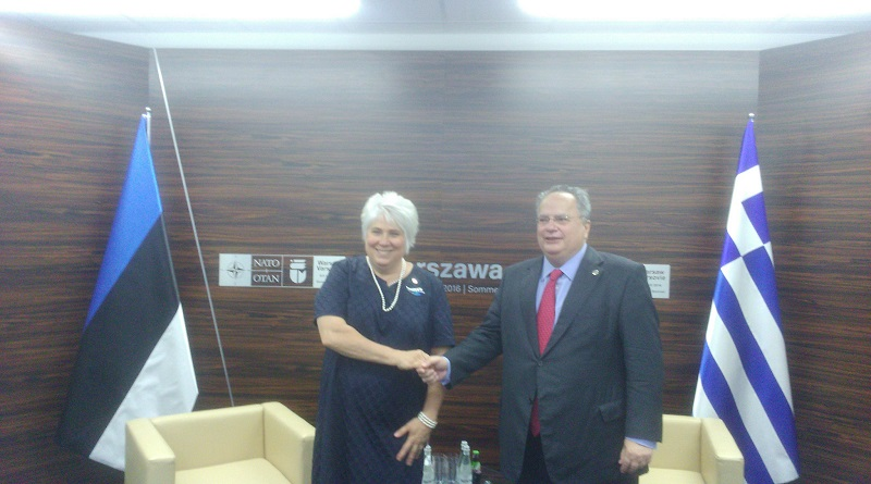 Kotzias meets FM Estonia