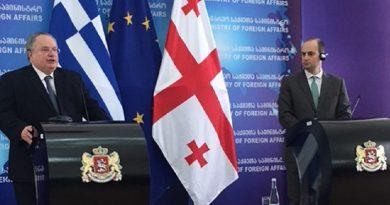 Foreign Minister Nikos Kotzias visits Georgia